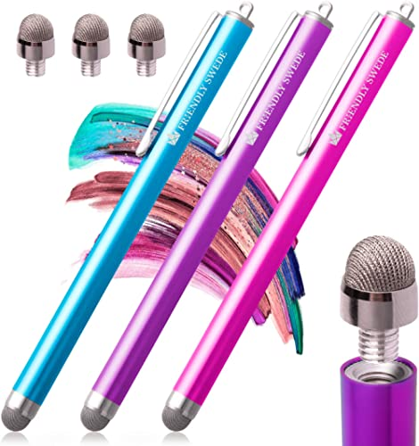 The Friendly Swede Stylus Pen Replaceable Micro-Knit Mesh Tip - Capacitive Touchscreen Stylus, Tablet Styli with Lany...