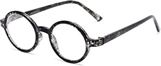 com Reading Glasses: The Bookworm Reader, Plastic Round Style for Men and Women