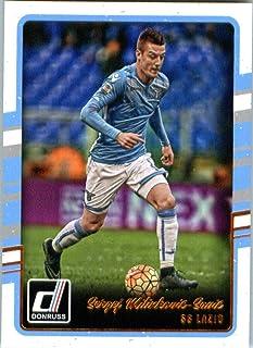 2016 Donruss #168 Sergej Milinkovic-Savic SS Lazio Soccer Card in Protective Screwdown Display Case