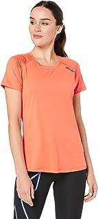 2XU Women's GHST Short Sleeve Tee, Sherbert/Sherbert