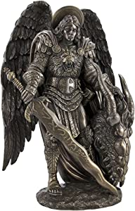 Pacific Giftware ST. Michael y el dragón Arcángel Estatua Santa