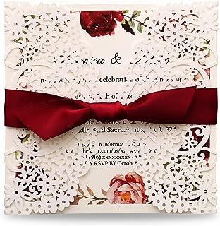 make your own autumn wedding invitations