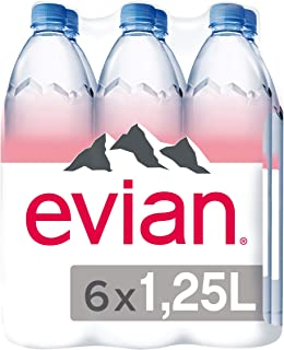 evian Natural Mineral Water 1.25L, Promo Pack of 6