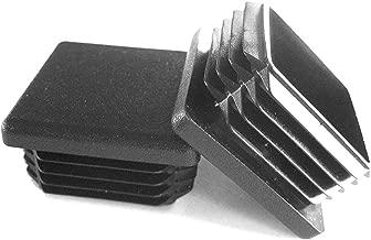 Prescott Plastics 1 1/2 Inch Square Plastic Plug, Tubing Post End Cap, Chair Glide (8)