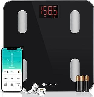 Etekcity Digital Body Weight Scale, Smart Bluetooth Body Fat BMI Scale, Bathroom Weighing Scale Tracks 13 Key Fitness Comp...