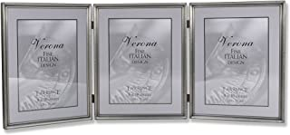 Lawrence Frames 11580T Brushed Pewter Bead Hinged Triple Picture Frame, 8 by 10-Inch