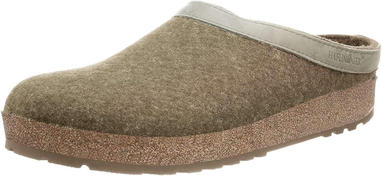 HAFLINGER Unisex GZL 40% OFF Cheap Super-cheap Sale Leather Clogs Trimmed Wool