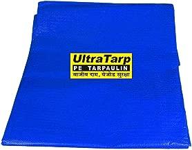 UltraTarp PE Tarpaulin (40 ft x 40 ft) 100% Virgin UV Treated 120 GSM Blue Waterproof Plastic Sheet