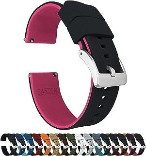 Correas de reloj de silicona de Barton Elite con liberación rápida, color a elegir, medidas: 18,19, 20, 21, 22, 23 y 24 mm