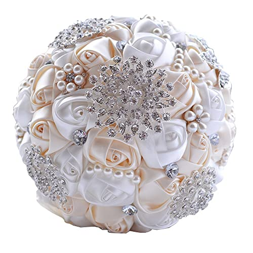 Artificial Flowers For A Bridal Brooch Bouquet Amazon Com