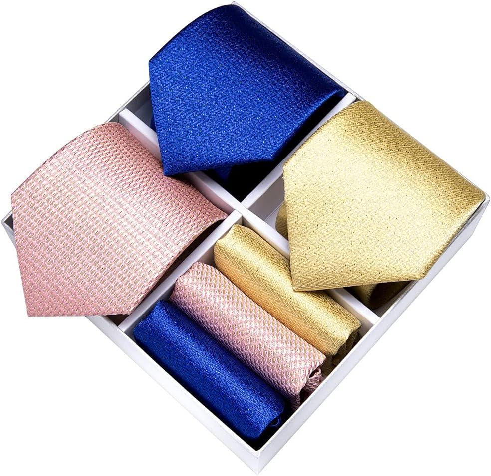 ZLBYB Classic 8cm 3 Pack Men's Tie Set Silk Jacquard Woven Necktie Formal Wedding Men Accessories Cravat Gift Box (Color : Jacquard, Size : One Size)