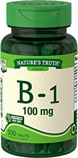 Nature's Truth Vitamin B-1 100mg Tablets, 100 Count