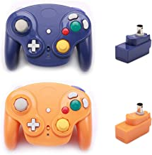 $43 » Poulep 2 Packs Classic 2.4G Wireless Controllers Gamepad with Receiver Adapter for Nintendo Wii U Gamecube NGC GC (Purple and Orange)