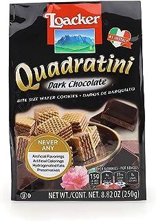 Loacker Quadratini Premium Dark Chocolate Wafer Cookies, 250g/8.82oz