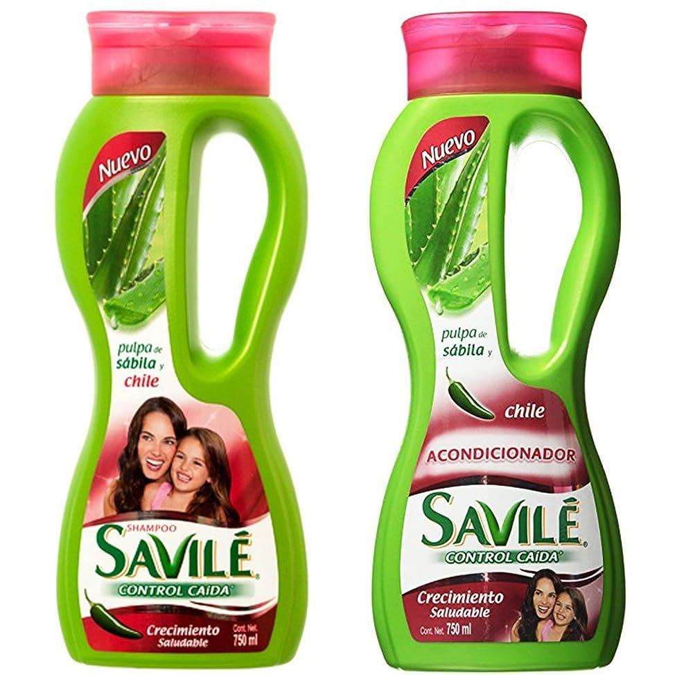 Savile Biotina Pulpa de Sabila y Chile Shampoo/Acondicionador (Shampoo and Conditioner)