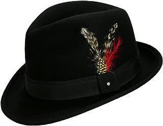 9th Street Men's 100% Wool 'Verve' Trilby Fedora Hat (6+ Colors)