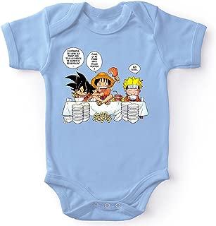 One Piece /™ Licence Officielle Baby Geek Petit Gourmand Body B/éb/é Manches Courtes Parent Luffy
