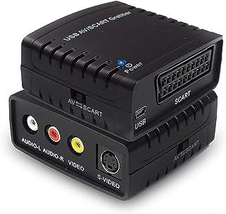 Rybozen Convertidor de Captura de vídeo USB Scart VHS a DVD Digital Grabber Grabador Capturadora Digitalizadora de vídeo para Mac Windows