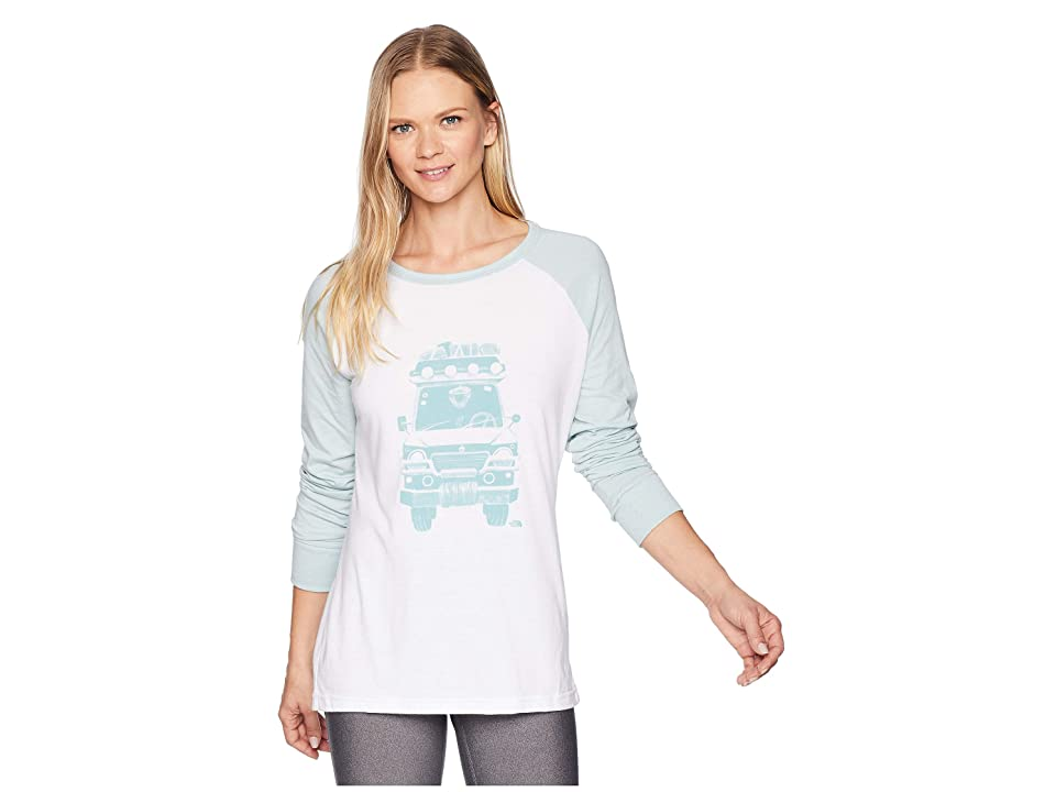 The North Face Long Sleeve Take To Nature Tri-Blend Tee (TNF White Heather/Blue Haze Heather) Women