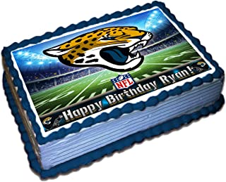 Jacksonville Jaguars NFL Personalized Cake Topper Icing Sugar Paper 1/2 11.7 x 17.5 Inches Sheet Edible Frosting Photo Birthday Cake Topper (Best Quality Printing)