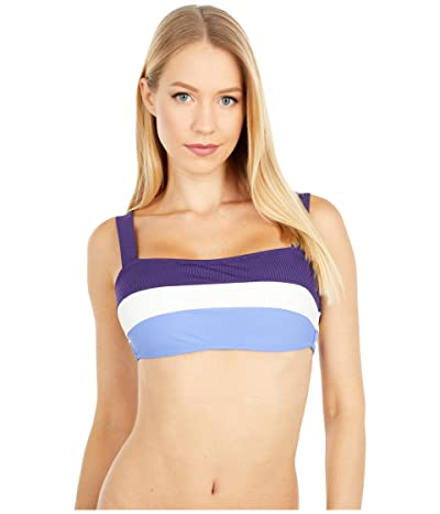 Jessica Simpson Chop Change Straight Panel Bandeau Top (Shadow Multi) Women