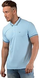 efcb619d57 Emporio Armani Camisa Polo de Hombre en Cielo Azul - Azul, X-Large