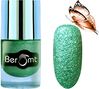Beromt Liquid Sand Nail Polish, Matte Nail Color, Show Bright Sparks, Green, 607, 10 ml