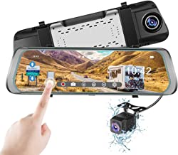 $84 Get Mirror Dash Cam, Monja 1080P Backup Camera,9.88'' Touch Screen, Dual Lens with Wide Angle 170° Front and 150° Waterproof Rearview Cameras for Cars with Night Vision, Loop Record, Parking Monitor
