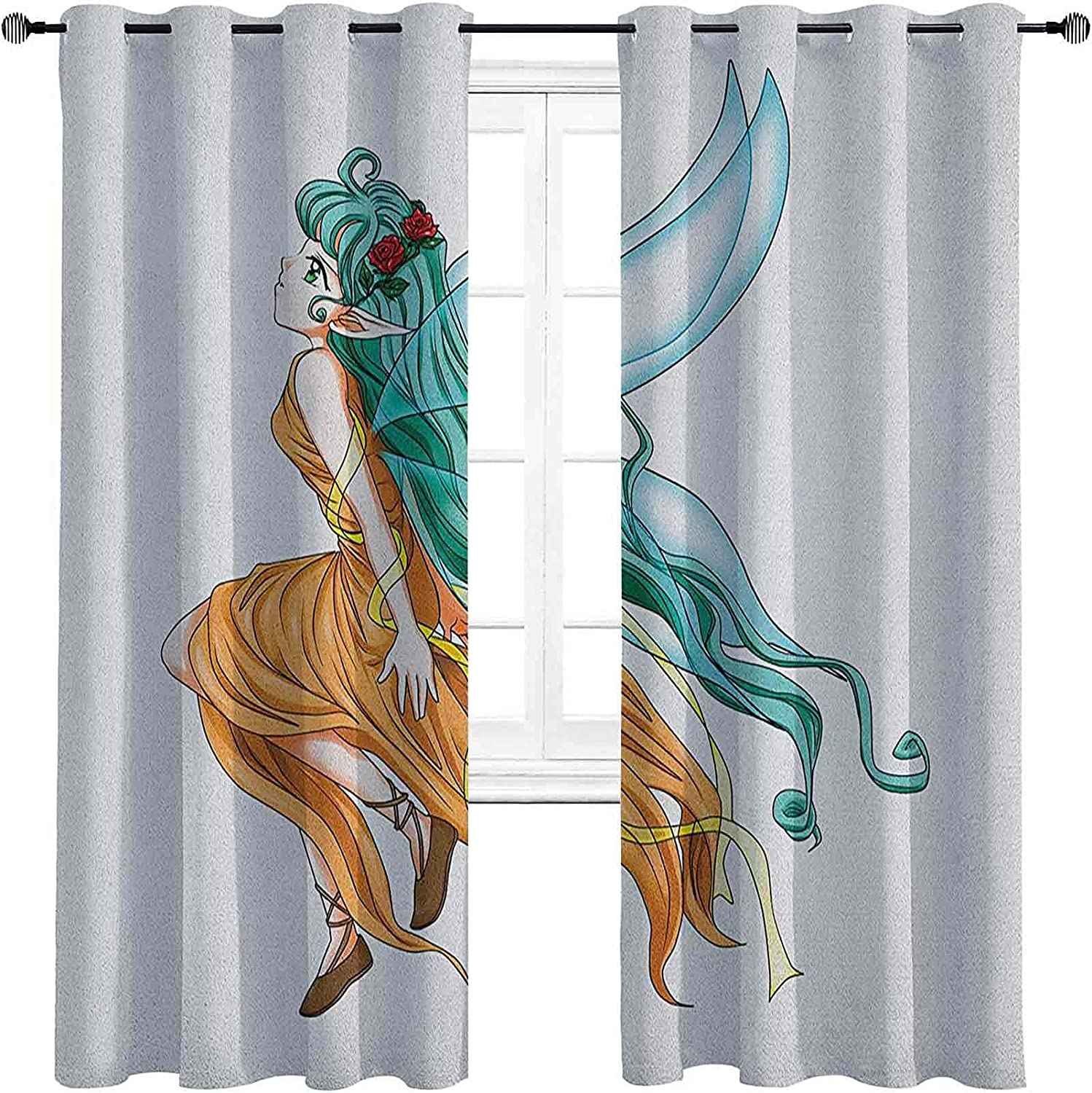 Anime Bedroom Blackout Curtains Pixie Girl Caricature 5 popular with Price reduction Lo a