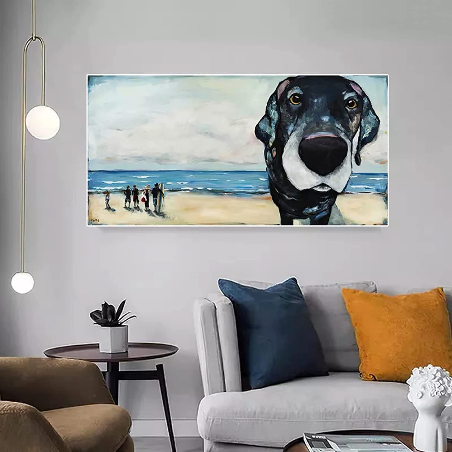 Home Ranking TOP17 Decoration Painting Abstract Paintin Translated Beach Landscape Canvas