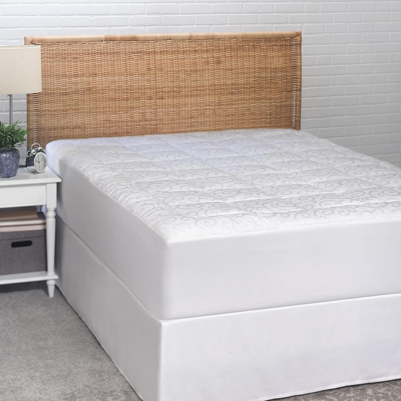 Candice Olson Waterproof Mattress Pad 300 Cheap mail order shopping San Diego Mall Thread Q Count - White
