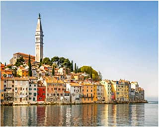 Paint By Numbers rovinj on adriatic sea in croatia picturesque village stock Digital Coloring Oil Painting Canvas With Inn...