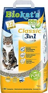 Biokat's Classic 3in1, arena para gatos sin fragancia – Arena aglomerante para gatos: de alta calidad y con 3 tamaños diferentes de grano – 1 bolsa de papel (1 x 10 l)