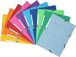 Exacompta 55510E - Carpetas con gomas y 3 solapas de