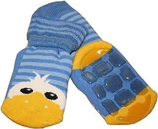 Weri Spezials, Weri Spezials Unisex Terry ABS Zapatillas anti antideslizante calcetines de alegre de pato LIIGHT azul azul azul claro Talla:9-12 meses