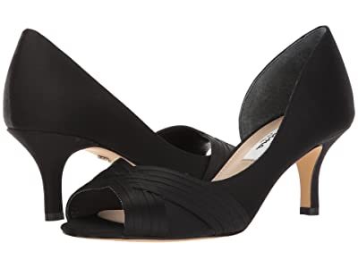 Nina Contesa (Black Luster Satin) High Heels
