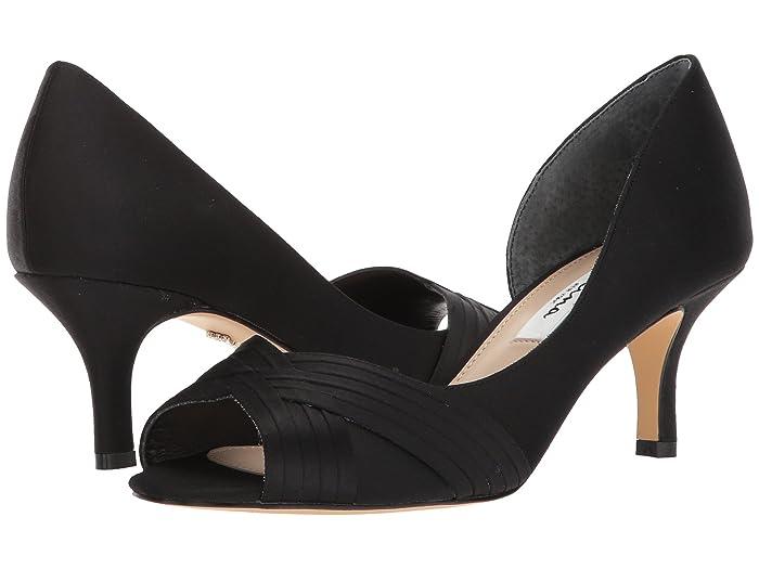 Nina  Contesa (Black Luster Satin) High Heels