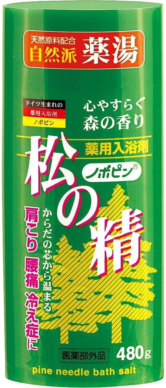 実用的下る争う紀陽除虫菊 薬用 入浴剤 ノボピン 松の精 心やすらぐ森の香り 480g [医薬部外品]