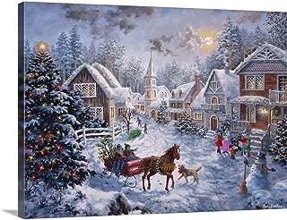 Merry Christmas Canvas Wall Art Print, 24