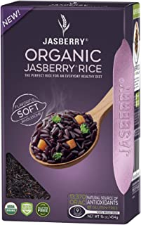 Sponsored Ad - Nulo Organic Jasberry Rice - Keto Friendly Non-GMO Superfood Healthy Rice - 16 Ounces (Pack of 6)