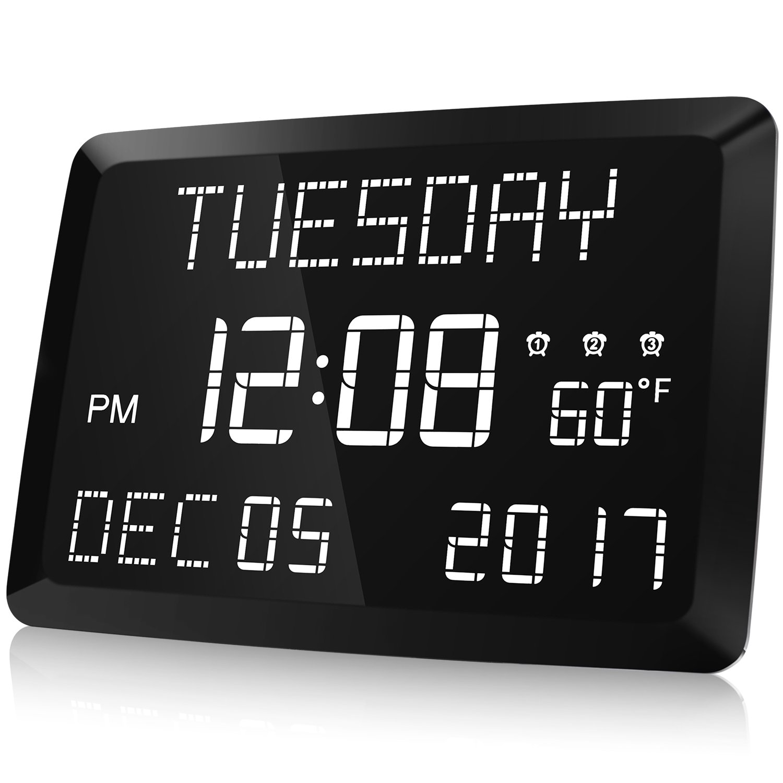Digital Alarm Day Clock Temperature