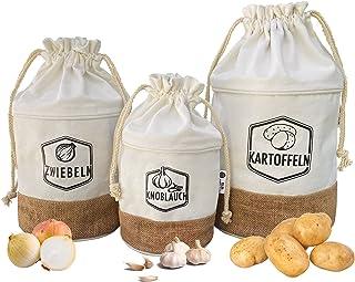 G.a HOMEFAVOR Boîtes De Conservation en Set pour Pommes De Terre, Oignons Et Ail, Sac Aux Pommes De Terre, Aux Oignons Et ...
