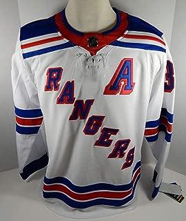 Mens New York Rangers Mats Zuccarello #36 Authentic Adidas Pro White Jersey 2XL