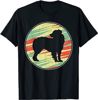 Australian Shepherd Retro Vintage Silhouette Cute Dog Gift T-Shirt