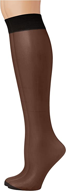 Pretty Polly - Comfort Top Knee Highs 2PP