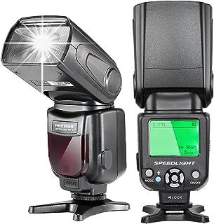 Neewer E-TTL Flash Speedlite con Pantalla LCD Difusor Duro y Bolsa Protectora para Cámaras Canon DSLR como 7D Mark II 5D Mark II III IV 1300D 1200D 750D 700D 600D 80D 70D 60D (NW- 562)