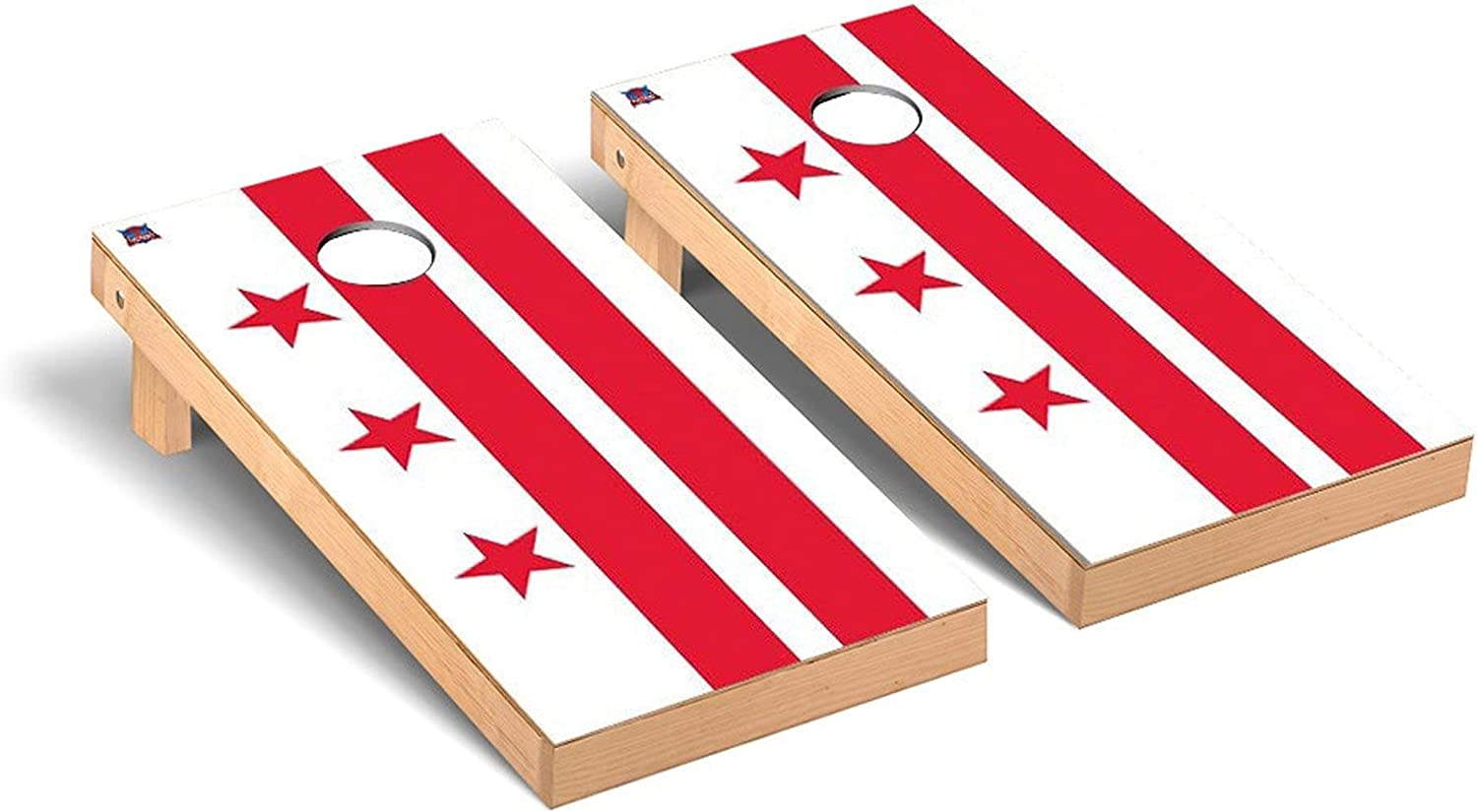 Victory Direct stock discount Max 41% OFF Tailgate Flag Theme Cornhole Regulation Board Sets