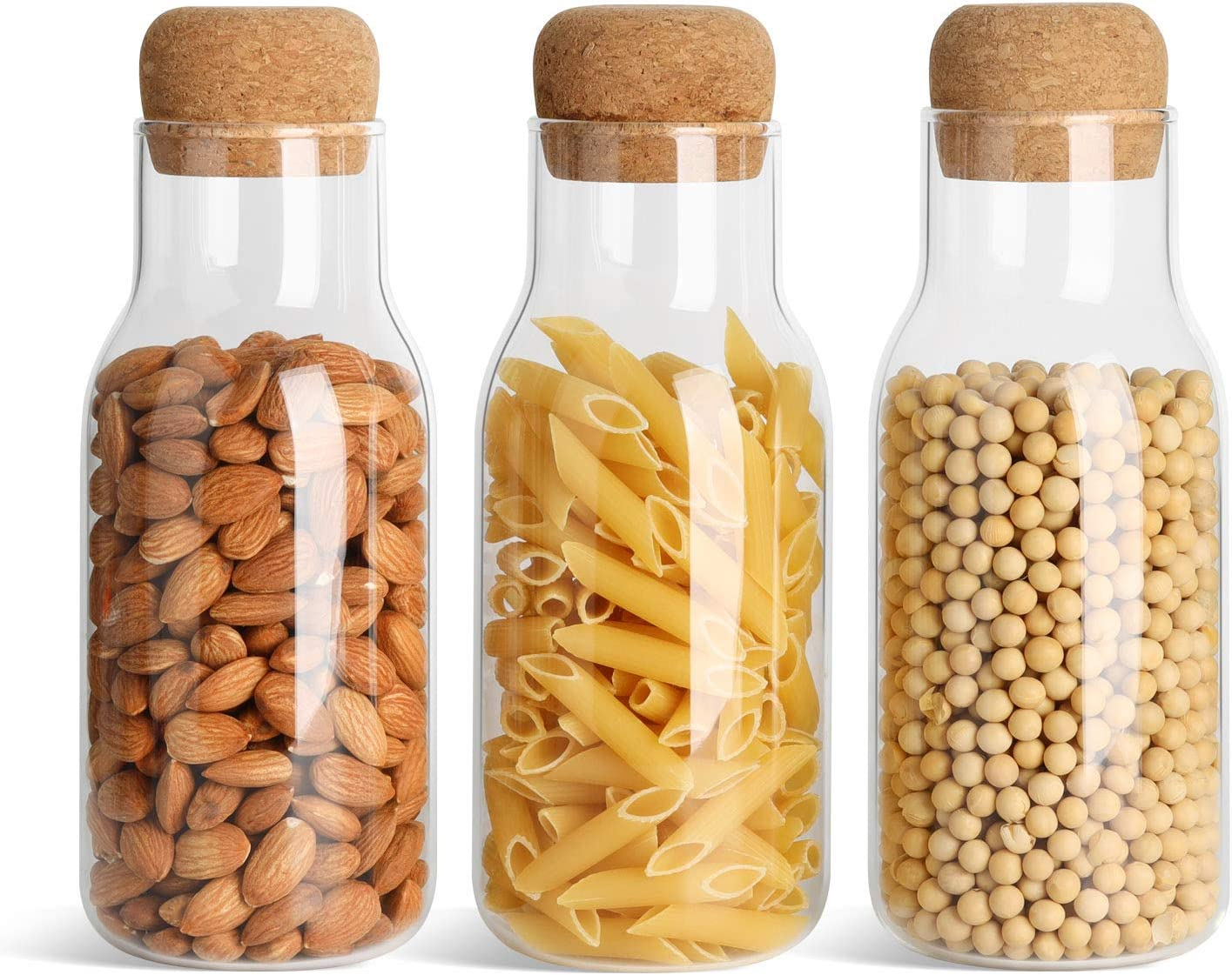 ComSaf Glass Food Storage Canister with Cork Airtight Lid 23oz 1 year warranty Oakland Mall