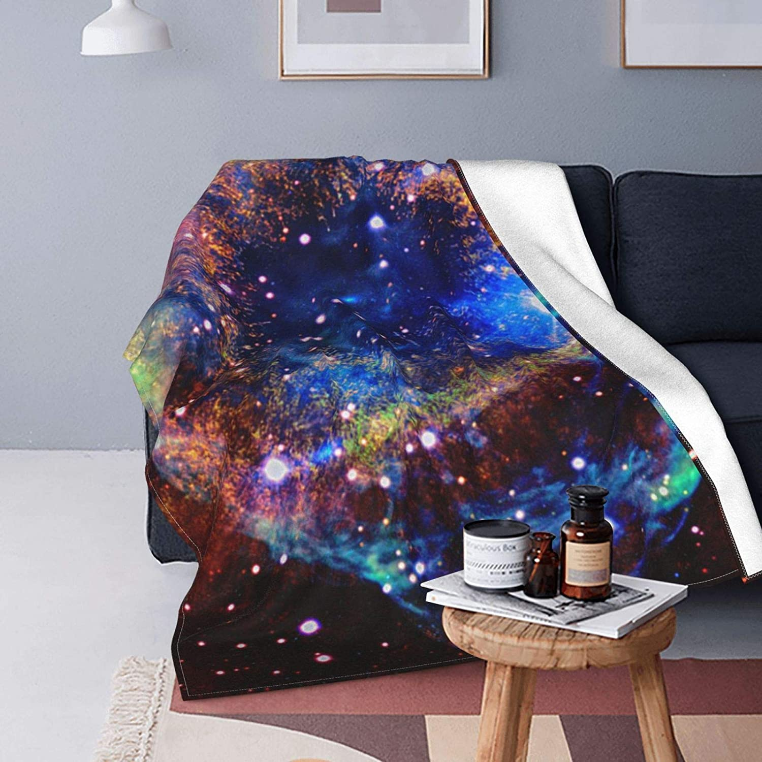 Colorful Nebula Ultra-Soft Micro Fleece Blanket Bed Suitable Max Seattle Mall 41% OFF for