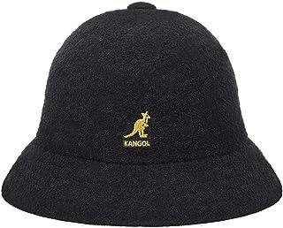 قبعة Kangol كاجوال برمودا للرجال بطراز كلاسيكي، أسود/ذهبي (X-Large)